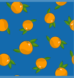 Seamless pattern grapefruit on blue background vector