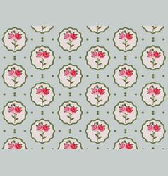 Vintage rose flowers pattern vector