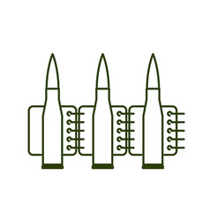 bullets clip line style ammunition sign icon vector image
