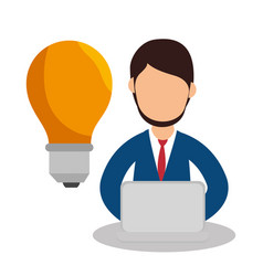 Business people with training icon vector