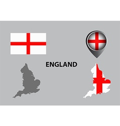 Map of England and symbol vector image vector image