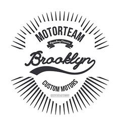 Motorteam Brooklyn T-shirt graphic vector image