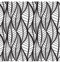 seamless black and white texture with stylized vector image vector image