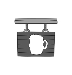 Sign beer bar icon black monochrome style vector image vector image