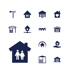 13 roof icons vector