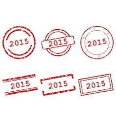 2015 stamps vector
