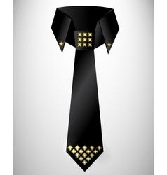Abstract retro cravat tie with stud vector