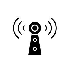 alarms black icon concept vector image