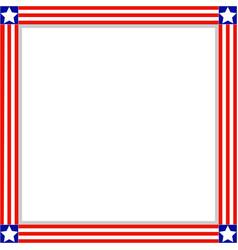 American flag symbols border frame vector