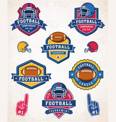 american football logo and insignias vector image
