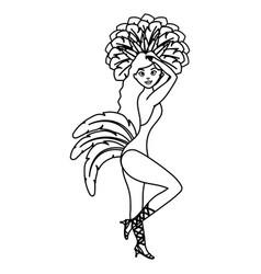Beautiful brazilian garota character vector