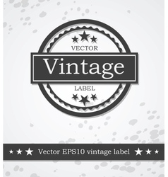 Black label with retro vintage styled design vector image
