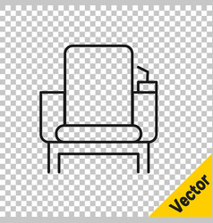 black line cinema chair icon isolated on vector image