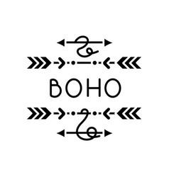 Boho arrows black glyph icon bohemian aesthetic vector