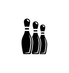 Bowling skittles pin flat icon vector