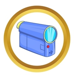 Camcorder icon vector