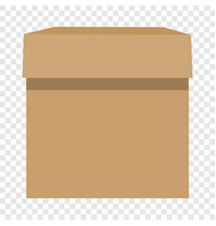 Cardboard box mockup realistic style vector