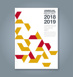 Cover annual report 1185 vector