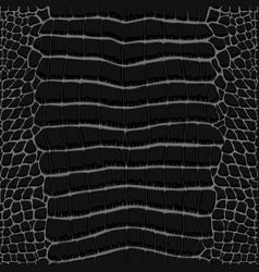 crocodile skin black and white seamless pattern vector image