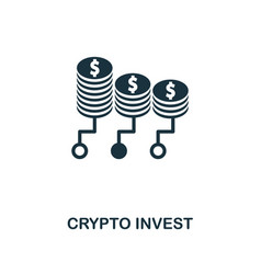 crypto invest icon creative element design from vector image