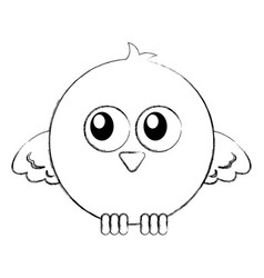 cute bird expression comic vector image