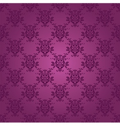 Damask seamless silk vector image