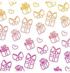 Degraded line close presents gifts boxes vector