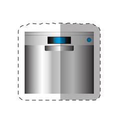 Dishwasher appliance home cut line vector