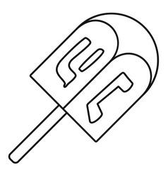 dreidel icon outline style vector image