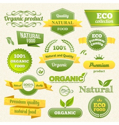Eco Stamps Banners and Labels vector image vector image