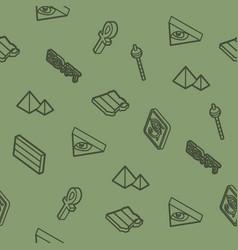Egypt outline isometric pattern vector