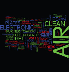 electronic air cleaners low on maintenance high vector image
