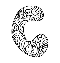 Entangle stylized alphabet - letter c vector