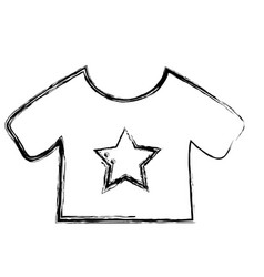 figure baby t-shirt and textile clothes vector image