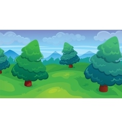 Fir Forest Game Background vector