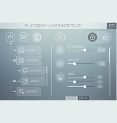 Flat ui template vector