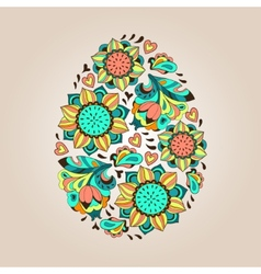 Flower tracery egg vector image