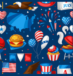 Fourth july independence day seamless pattern vector