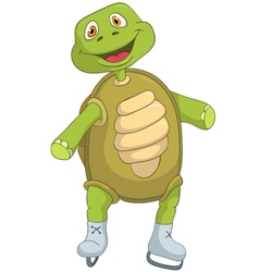 Funny Turtle Skater vector image