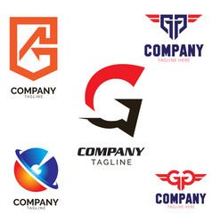 g letter based logo set vector image