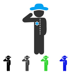 Gentleman officer flat icon vector