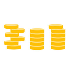 gold coins icons vector image