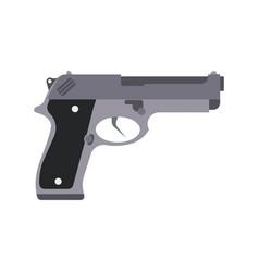 gun isolated silhouette pistol white weapon icon vector image
