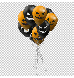 Halloween background cheerful pumpkins vector