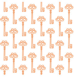 hand drawn doodle key seamless pattern-05 vector image