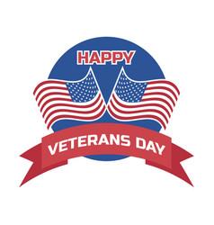 happy veterans day for american veteran vector image