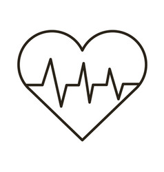 heart cardio line style icon vector image