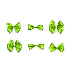 holiday satin gift bow knot ribbon vector image