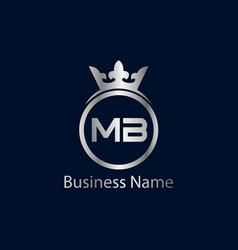 Initial letter mb logo template design vector