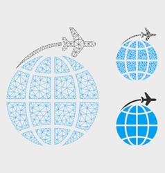 international flight mesh carcass model and vector image